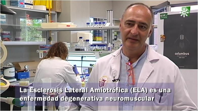 David Pozo estrecha lazos entre investigación y solidaridad contra la ELA